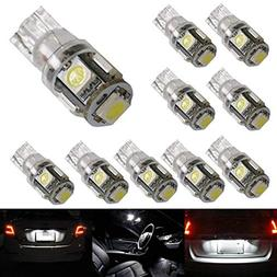 iJDMTOY  5-SMD-5050 168 194 2825 W5W LED Replacement Bulbs F