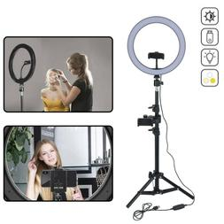 "10"" 7.5W LED Ring Light w/Stand & Mount Kit for Camera Phone"