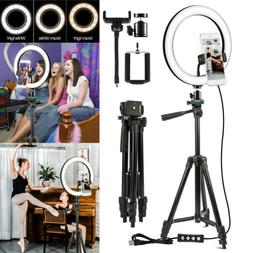 "10"" Video  LED Ring Light with Camera Tripod Stand & Phone H"