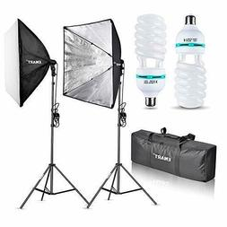 Emart 1000W Softbox Lighting Kit Photography Continuous Phot