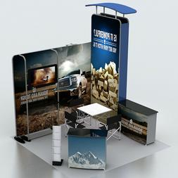 10ft portable trade show display pop up