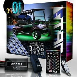 10pc Aura Golf Cart Underbody Glow LED Lighting Kit | Multi-