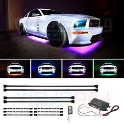 LEDGlow 10pc Million Color Wireless LED Car Underbody and In