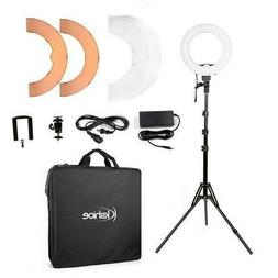 "12"" 180Pcs LED Ring Light Dimmable 5500K for SmartPhone/Came"