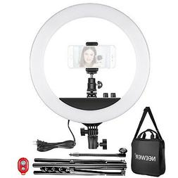 14-inch Outer Dimmable LED Ring Light Kit with Light Stand a