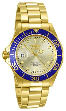 Invicta Men's 14124 Pro Diver Gold Dial 18k Gold Ion-Plated