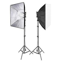 "Neewer 1500W Studio Softbox Lighting Kit  20x27"" Softbox  Li"