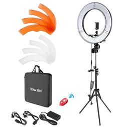 "Neewer 18"" / 48cm outer 55W Dimmable LED Ring Light Kit with"