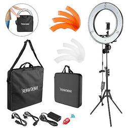 "18"" 55W Dimmable LED Ring Light Kit with Light Carrying Bag"