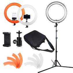 """18"""" Fluorescent Ring Light Kit with Stand Dimmable 5500K for"""