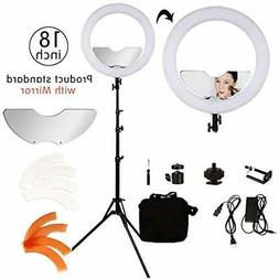 18 Inch Continuous Output Lighting 240 Led Ring Kit Dimmable