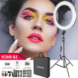 Neewer 18-inch LED Ring Light Kit with Battery for Makeup Yo