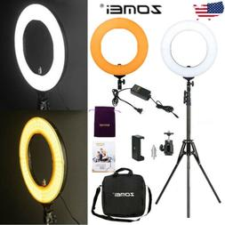 """18""""inch LED SMD Ring Light Kit with Stand Dimmable 5500K for"""