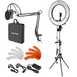 Neewer 18-inch Outer LED Ring Light and Condenser Microphone