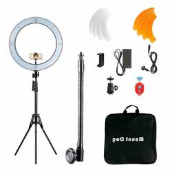 """18"""" LED SMD Ring Light Kit with Stand Dimmable 5500K for Mak"""