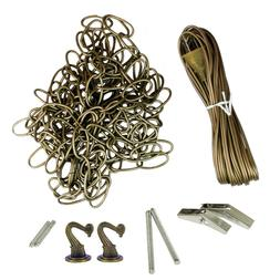 18' Swag Kit with 20' Cord for Hanging Light Fixtures, Antiq