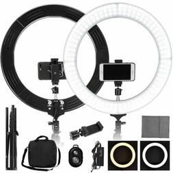 "19"" Dimmable LED Ring Light Studio Stand Lighting Kit Youtub"