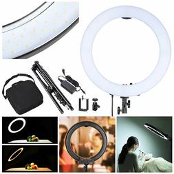 19 dimmable led ring light studio stand