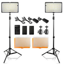 2 in 1 Kit  240pcsLED Video Light Studio Photog9raphy Camera