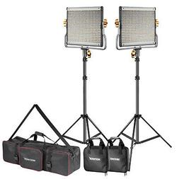 Neewer 2-Pack Dimmable Bi-color 480 LED Video Light Panel an