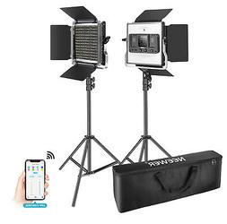 2 Packs 660 LED Video Light with APP Control, Photography Vi