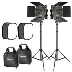 Neewer 2 Packs 660 LED Video Light with Stand and Softbox Ki