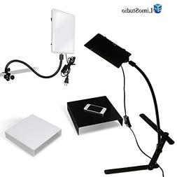LimoStudio 2 Packs of LED Light Panel with Gooseneck Extions