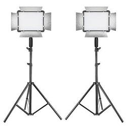 Neewer 2 Packs Photography Dimmable 500 LED Video Light with
