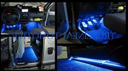 2 Piece Interior Footwell Trunk Light Strips Under Dash Kit