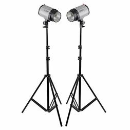 Neewer 2 pieces 6.23 Feet Photo Video Tripod Light Stand for