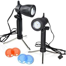 2 Sets Photography Light LED Table Professional Portable Lam
