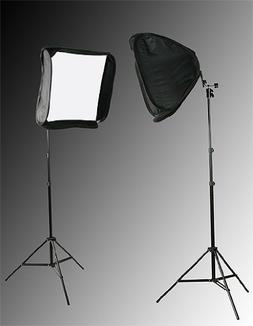 "2 x 24"" Softbox for Speedlight and Flash with Stand By Fanci"