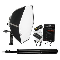 Fotodiox 20in Speedlite Softbox Kit for Nikon  with Light St