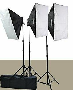 2400 Watt Softbox Lighting Kit Chromakey Green Screen Video