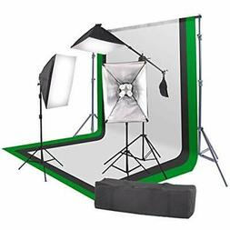 "2400 Watt Continuous Output Lighting Softbox Photo Kit 16""x2"