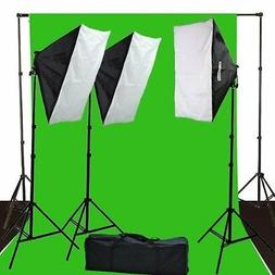 Fancierstudio 2400 Watt Lighting Kit Green Screen Kit Chroma