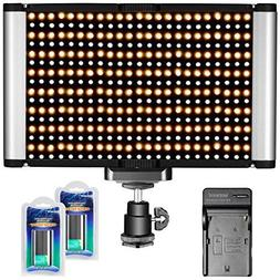 Neewer 280 LED Light Dimmable Bi-color Camera LED Video Ligh