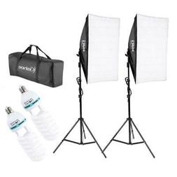 2pcs Softbox Light Kit Photo Studio Photography Continuous L