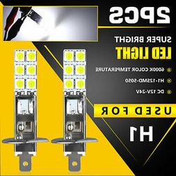 2X H1 6000K Super White 55W LED Headlight Bulbs Kit Fog Driv