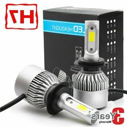 2X H7 LED Headlight High Low Beam Bulb Kit 6000K White 55W 6