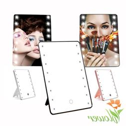 3 Colors Touch Screen Makeup Mirror LED Light Kit Rotatable