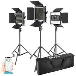 3 Packs 660 LED Video Light with APP Control Video Lighting
