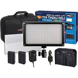 Vidpro LED-312 9pc VariColor Photo/Video LED Light Kit with