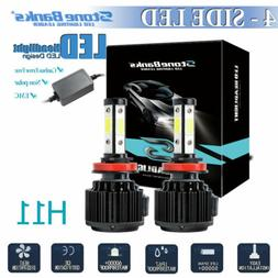 4 side h11 h8 h9 led headlight