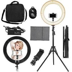 448pcs LED Ring Light Dimmable 5500K Lighting Video Continuo