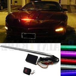 7 Color 48 LED RGB Scanner Flash Car Strobe Knight Rider Kit