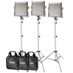 Neewer 3-Pack 480 LED Video Light with 78.7-inch Stainless S