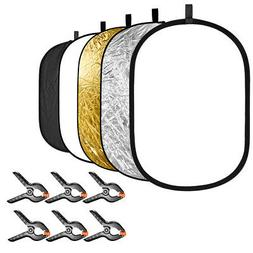 Neewer 5-in-1 Studio Photography Light Reflector with 6-Pack