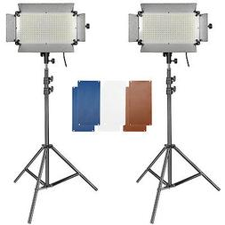 Neewer 2 Pieces 500 LED Lighting Panel and Stand Kit Include