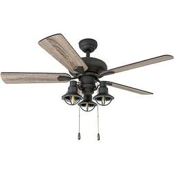 "Prominence Home 50652-01 Piercy Coastal Ceiling Fan, 42"", Ba"